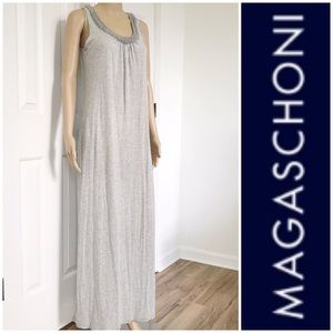 Magaschoni Embellished loose fit maxi dress S